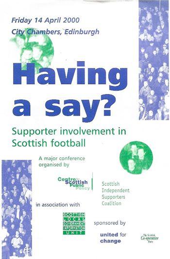 February 2000 - Having a say?
