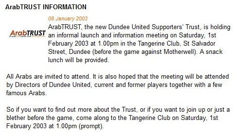 The official launch of ArabTRUST is announced 8th January 2003