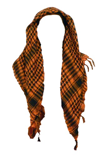 Black & Tangerine Keffiyeh. Dress like a true Arab!  Only £6.00
