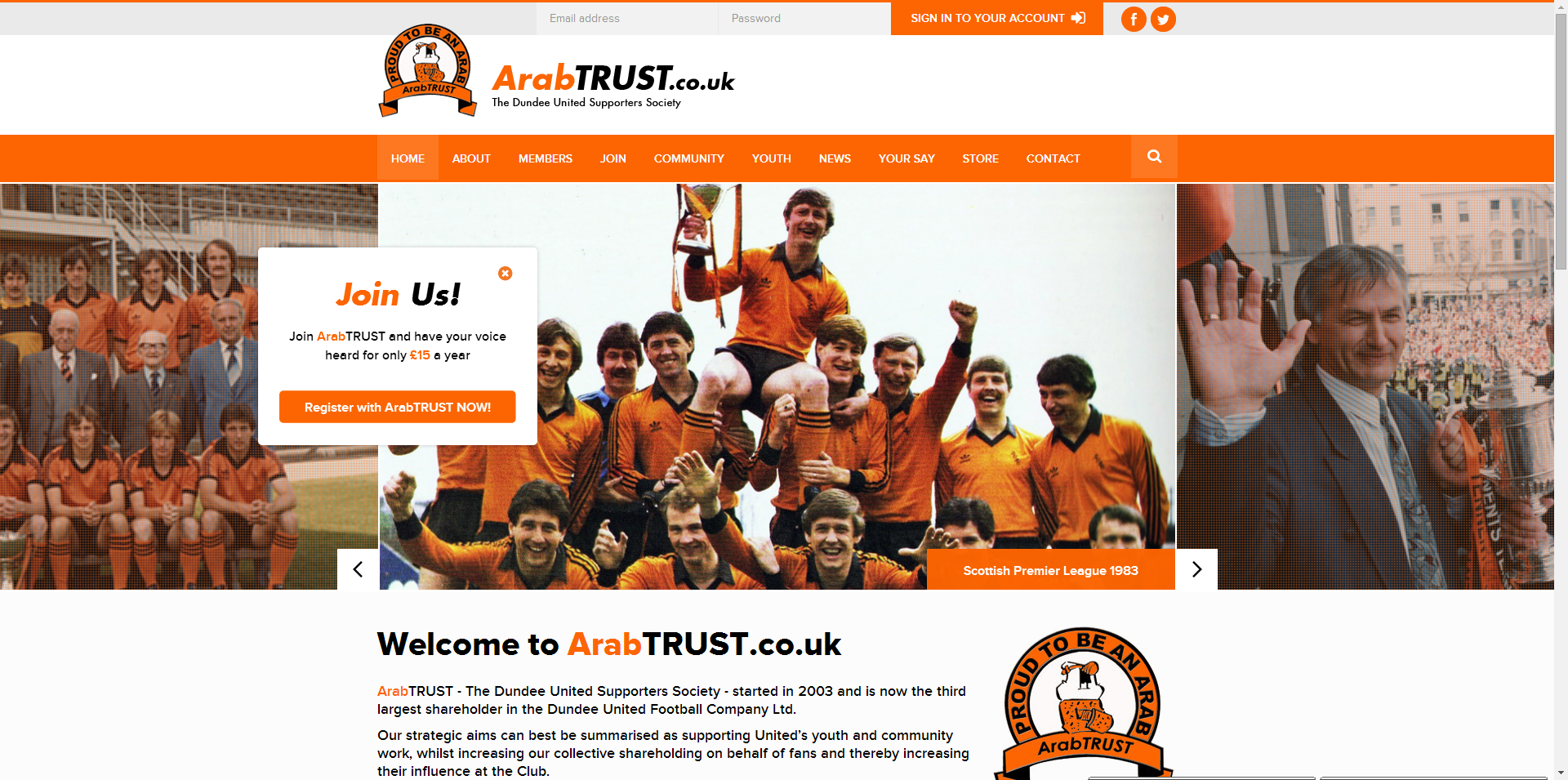 Welcome To The New ArabTRUST Website