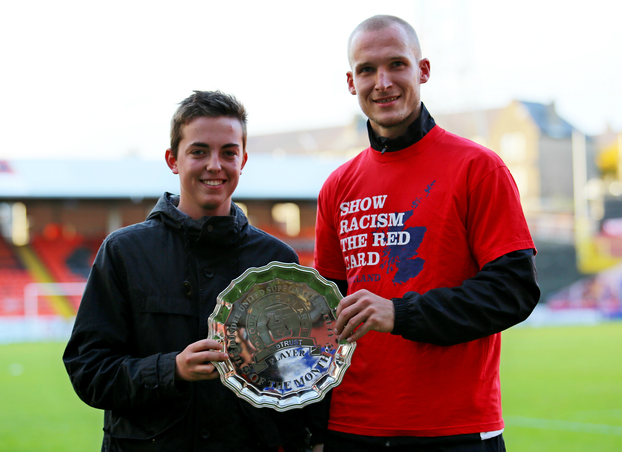 Jarek Fojut Presented Player of the Month Award