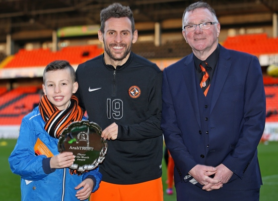 Andreu presented with Player of Month Award Jan 2017