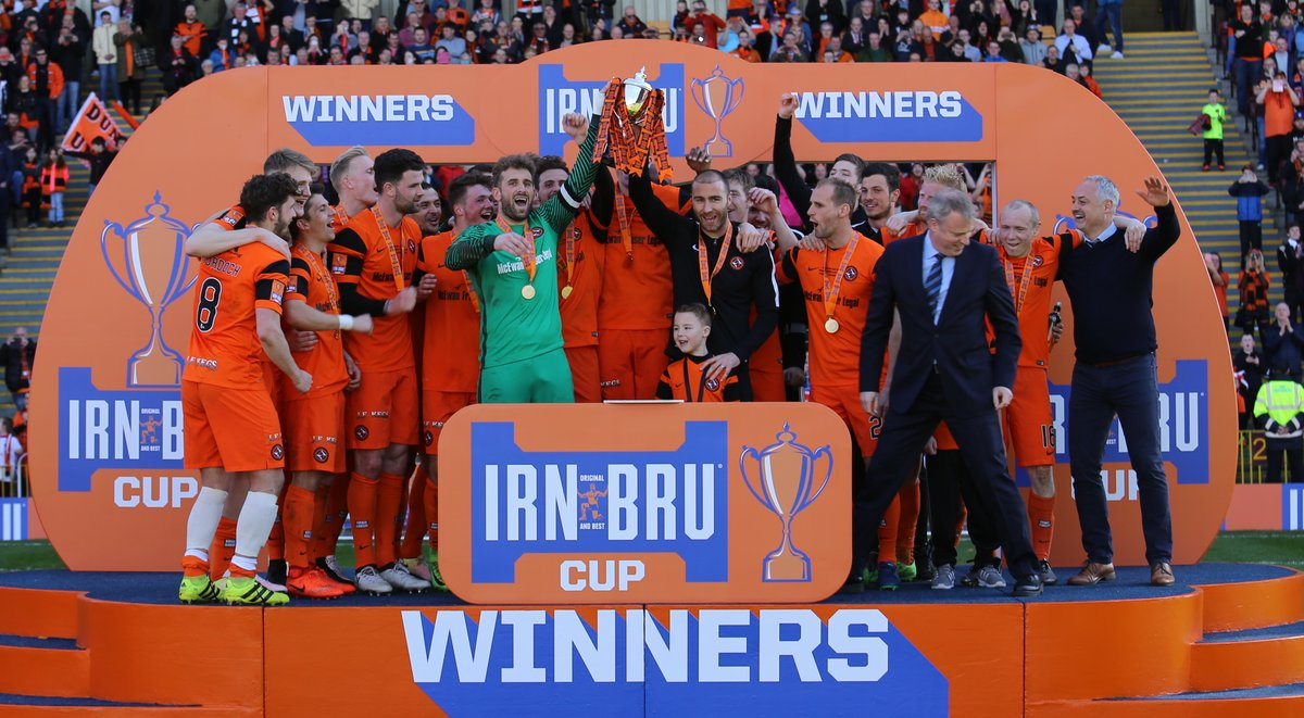 Dundee United 2017 Irn-Bru Cup Final Winners