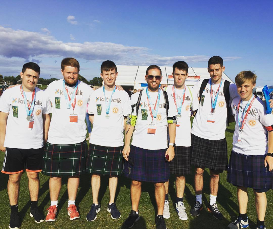 Kiltwalk 2017 Dundee United Community Trust
