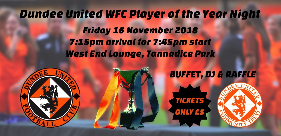 Dundee United Womens FC Player of the Year Night