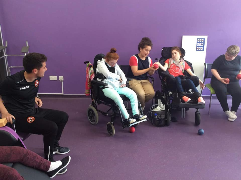 Boccia Fun At Capability Scotland
