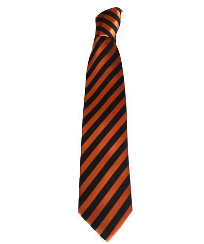 ArabTRUST Tangerine & Black Stripped Tie