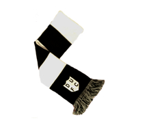 Retro Black & White Scarf with Embroidered DUFC Badge £10 + Postage